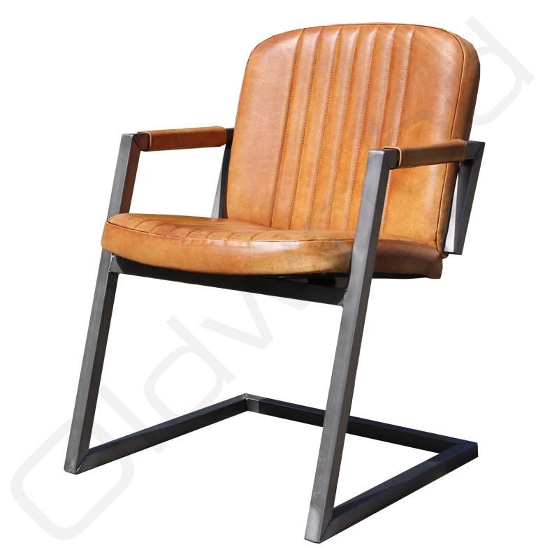 Pin leren meubelen on pinterest - Eetkamer leunstoel ...