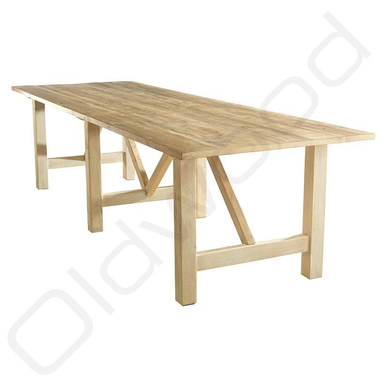 Robuuste houten tafel - Florence - Oldwood - De Woonwinkel