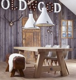 Reeds Verkocht! Industriële lampen - glasplaat wit
