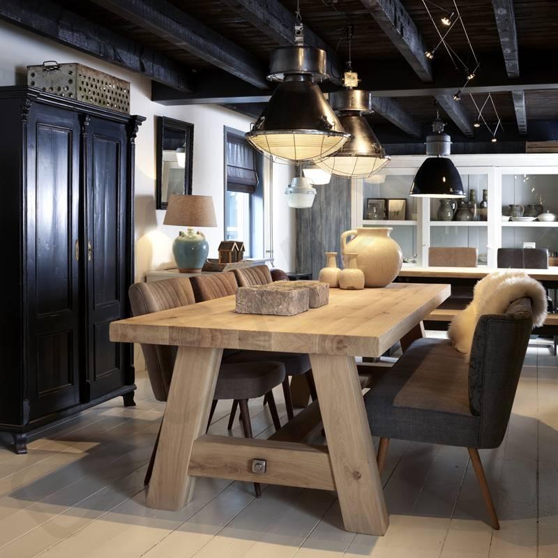 Robuuste tafels - Eiken tafel Milaan - Oldwood - De Woonwinkel