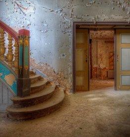 Scratch Photography - Foto's op geborsteld aluminium - diverse afmetingen Colorful stairs - foto op aluminium