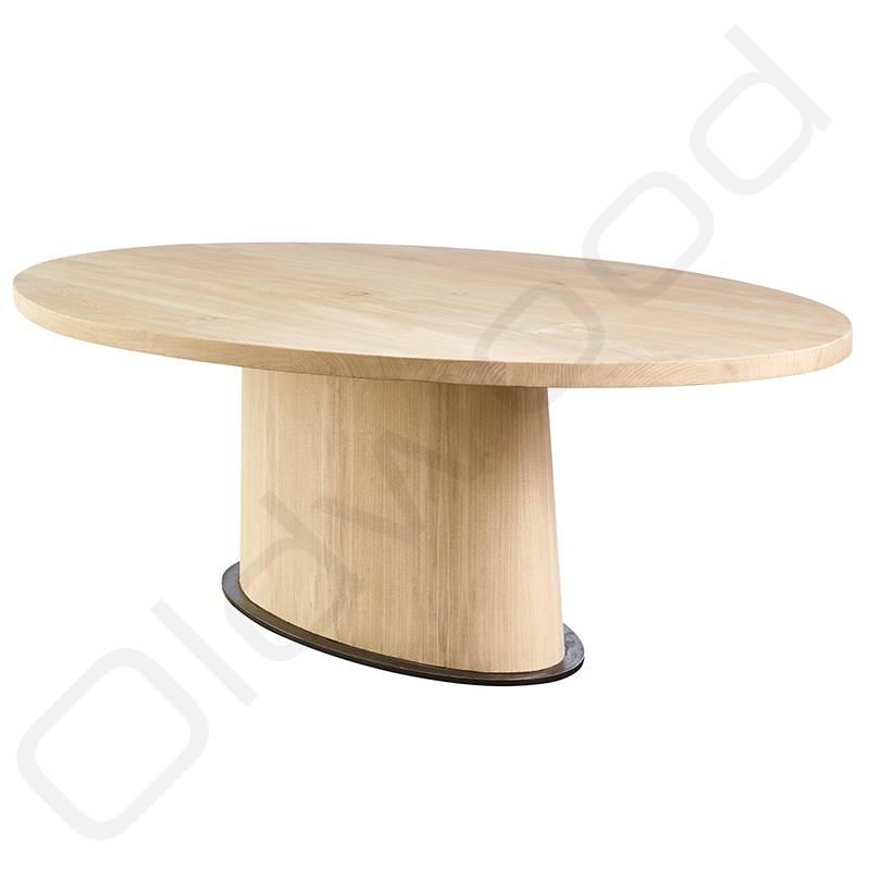Populair ovale houten eettafel nx83 belbin info for Houten eettafel design