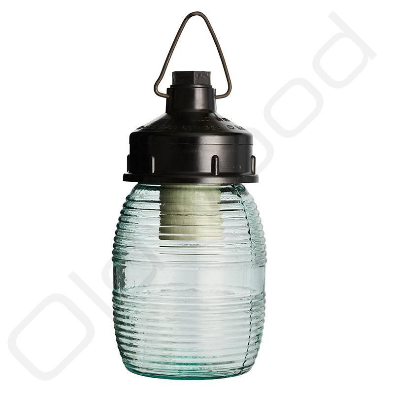 Glazen honingpot lamp
