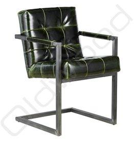 Lederen stoel - Basel Green Glossy