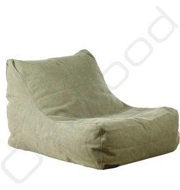 Lounge chair - canvas dark green