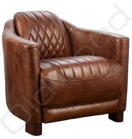 Lederen Fauteuil - Lockheat brown