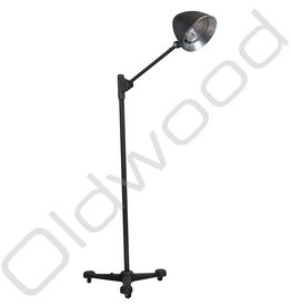 Verkocht! Vintage lamp op rolstatief