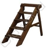 (Gereserveerd) vintage houten boekenkast trap