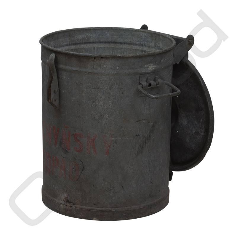 Robuuste metalen afvalbak