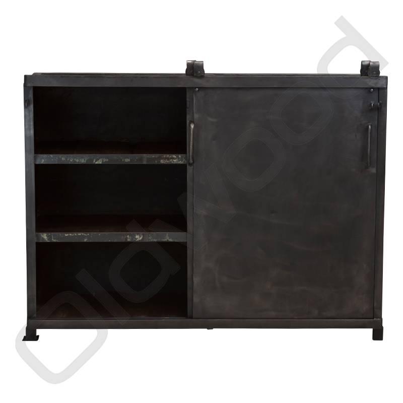 Industrieel meubel Metalen industriële schuifdeurkast