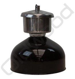 Industriële Franse lamp - zink zwart