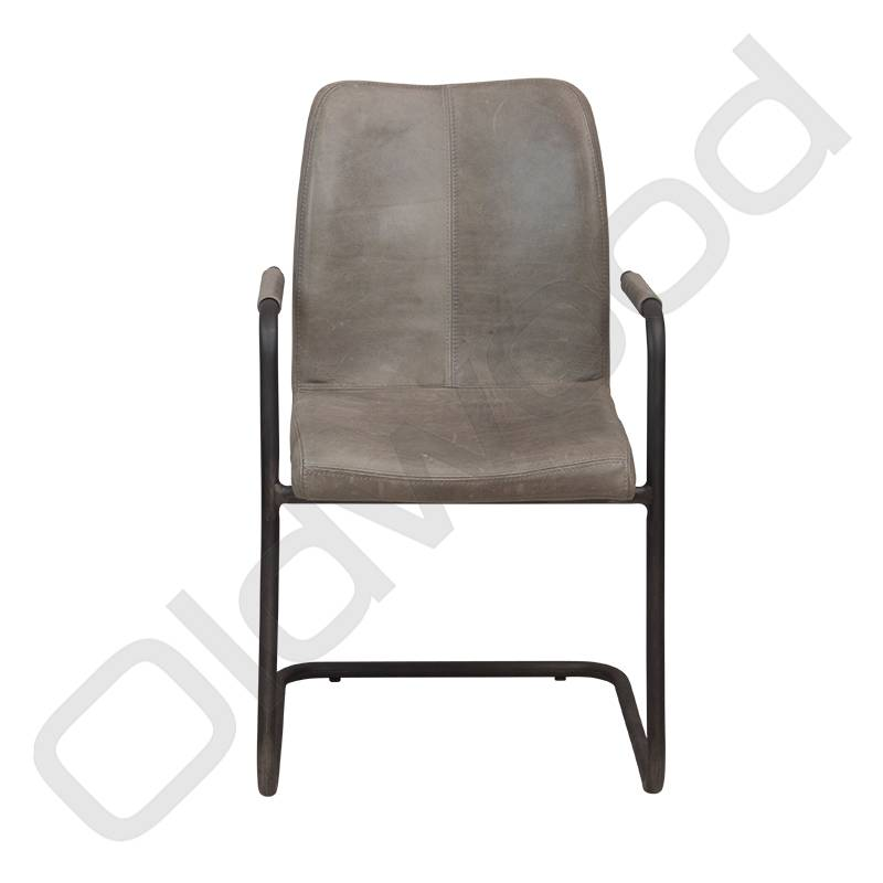 Lederen Sevilla stoel - cerato grey