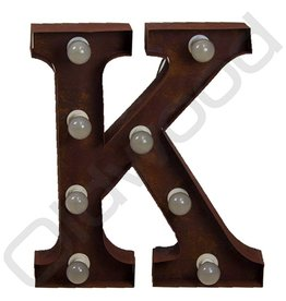 Roestige lichtletter ''K''