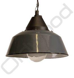 Industriële lamp Bo met glas