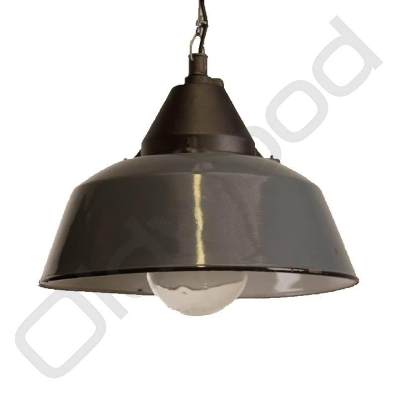 Industriele Hongaarse lamp Bo met glas