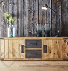 Tv meubel / dressoir met metalen lades