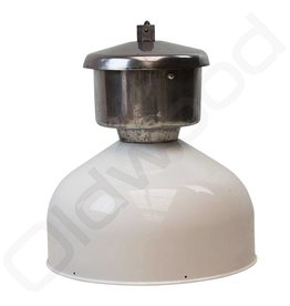 Industriële Franse lamp van zink wit