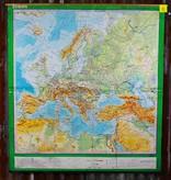 Vintage linnen schoolkaart van Europa