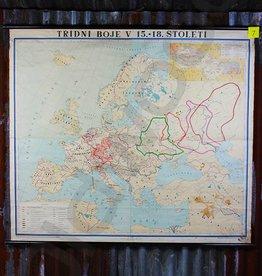 Vintage linnen landkaart van Europa
