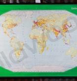 Vintage linnen wereldkaart