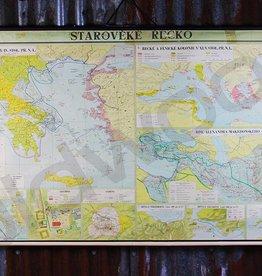 Vintage linnen landkaart van Griekenland