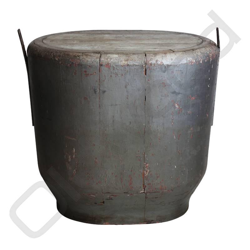 Vintage hakblok / bijzettafel grijs