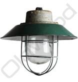 Industriële lamp  - Rolf donker groen met kooi