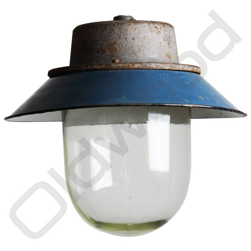 Industriële lamp - Akehorn blauw