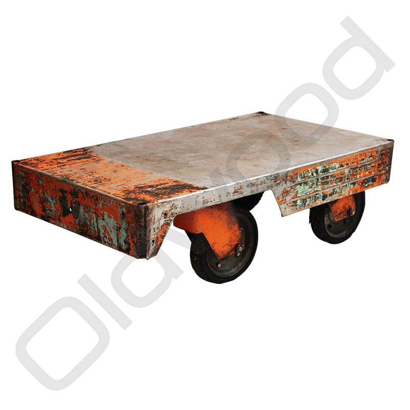 Industriële metalen trolley