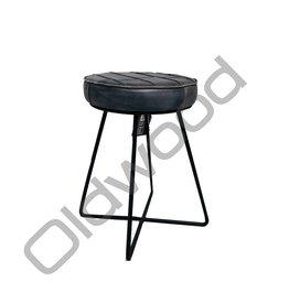 Industrieel meubel Krukje empire  grijs