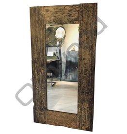 Industrieel accessoire Sal wood mirror