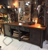 Industrieel meubel Vintage dressoir, stoer kookeiland, industriele werkbank