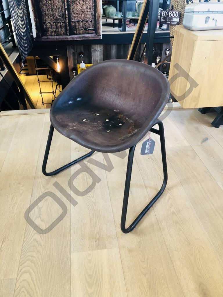 Industrieel meubel Originele trekkerzadelkruk