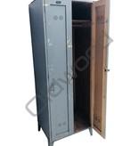 Industrieel meubel Houten locker grijs