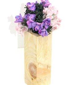 Vase aus Zirbenholz