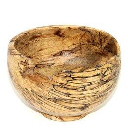 Schale aus gestocktem Buchenholz