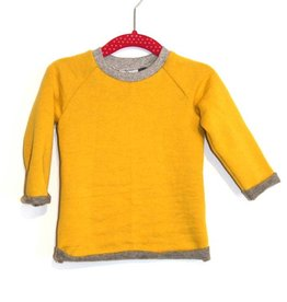 Sweater senf/grau Gr. 74