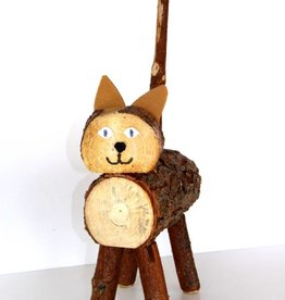 Holztier Katze