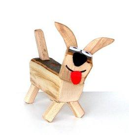 Holztier Hund
