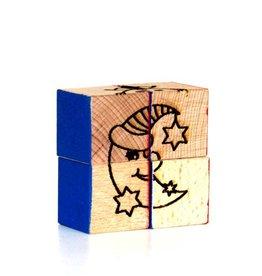 Holzwürfel-Puzzle