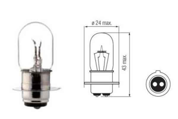 Lampe 6V. 20/20W. PX15D