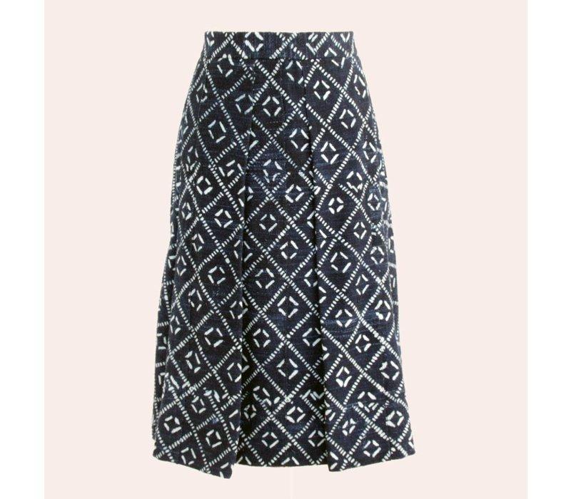 skirt indigo dessin danois square