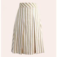 skirt; laos silk, yellow stripe