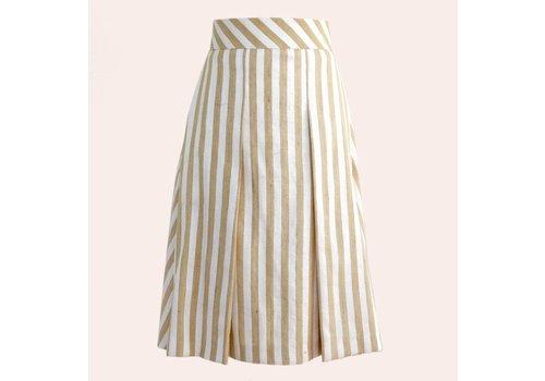 skirt; Laos silk-yellow stripe