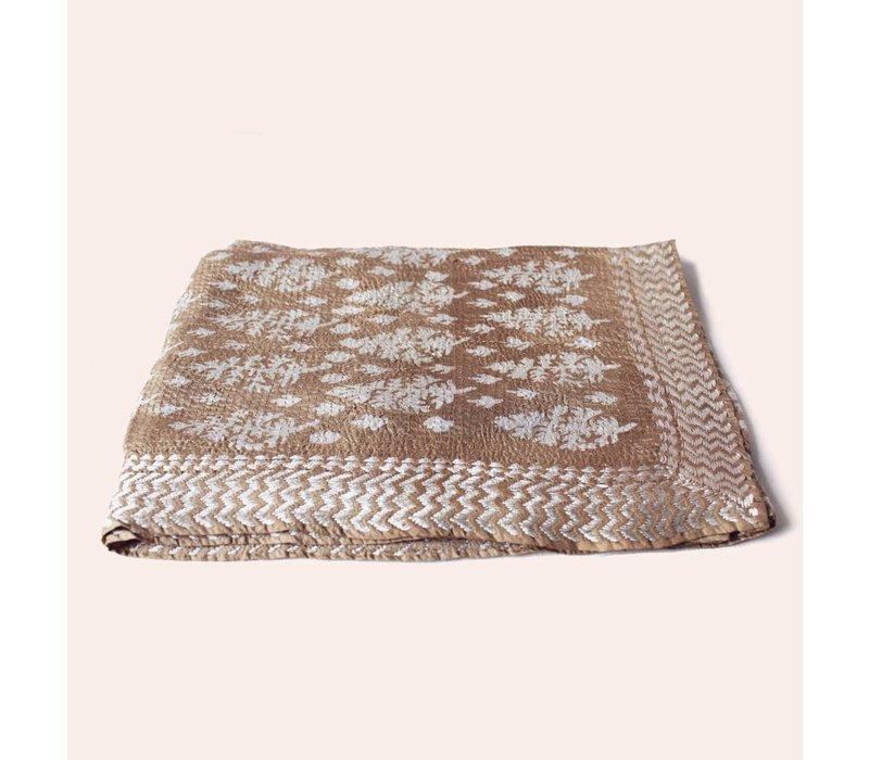 Nakshi kantha shawl (beige)