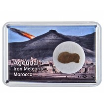 Agoudal meteoriet in doosje