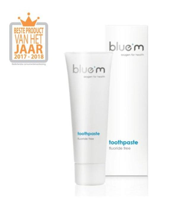 BlueM tandpasta zonder fluoride