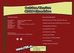 Oxalsäure Kleesäure C2H2O4
