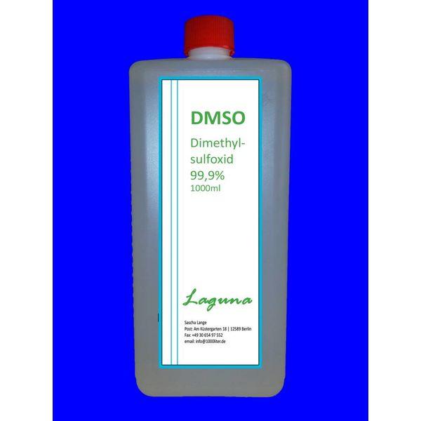 DMSO 500 ml Dimethylsulfoxid in HDPE Schraubverschlussflasche, laborrein 99,9 %