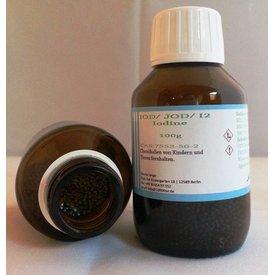 Iod/ Iodine BP/USP 50g CAS 7553-56-2 in Braunglasflasche -